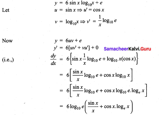 Samacheer Kalvi 11th Maths Solutions Chapter 10 Differentiability and Methods of Differentiation Ex 10.2 13