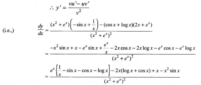 Samacheer Kalvi 11th Maths Solutions Chapter 10 Differentiability and Methods of Differentiation Ex 10.2 14