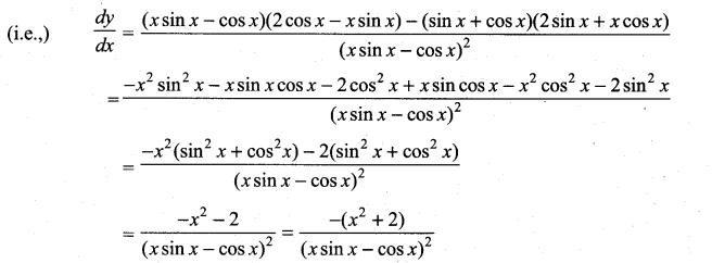 Samacheer Kalvi 11th Maths Solutions Chapter 10 Differentiability and Methods of Differentiation Ex 10.2 16