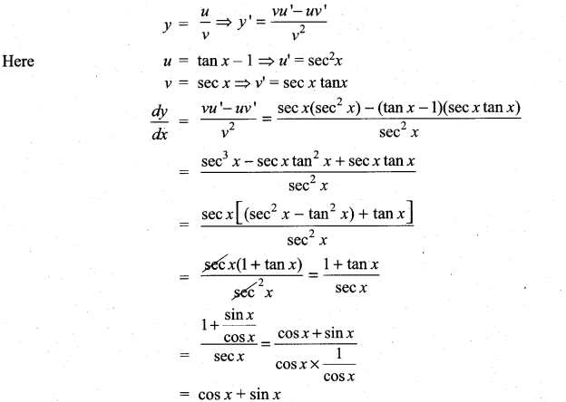 Samacheer Kalvi 11th Maths Solutions Chapter 10 Differentiability and Methods of Differentiation Ex 10.2 4