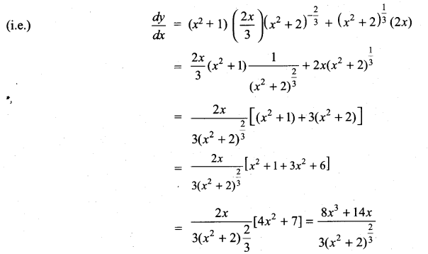 Samacheer Kalvi 11th Maths Solutions Chapter 10 Differentiability and Methods of Differentiation Ex 10.3 13