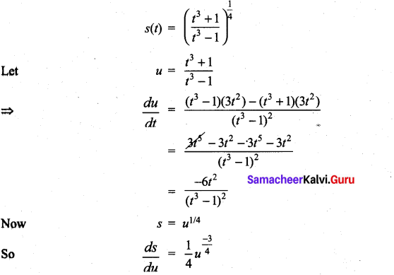 Samacheer Kalvi 11th Maths Solutions Chapter 10 Differentiability and Methods of Differentiation Ex 10.3 14