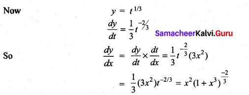 Samacheer Kalvi 11th Maths Solutions Chapter 10 Differentiability and Methods of Differentiation Ex 10.3 2