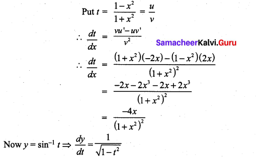 Samacheer Kalvi 11th Maths Solutions Chapter 10 Differentiability and Methods of Differentiation Ex 10.3 31