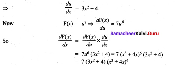 Samacheer Kalvi 11th Maths Solutions Chapter 10 Differentiability and Methods of Differentiation Ex 10.3 5