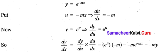 Samacheer Kalvi 11th Maths Solutions Chapter 10 Differentiability and Methods of Differentiation Ex 10.3 9