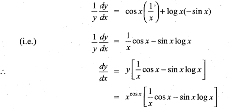 Samacheer Kalvi 11th Maths Solutions Chapter 10 Differentiability and Methods of Differentiation Ex 10.4 1