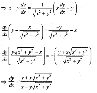 Samacheer Kalvi 11th Maths Solutions Chapter 10 Differentiability and Methods of Differentiation Ex 10.4 11