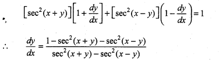 Samacheer Kalvi 11th Maths Solutions Chapter 10 Differentiability and Methods of Differentiation Ex 10.4 12