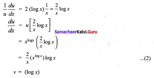 Samacheer Kalvi 11th Maths Solutions Chapter 10 Differentiability and Methods of Differentiation Ex 10.4 2