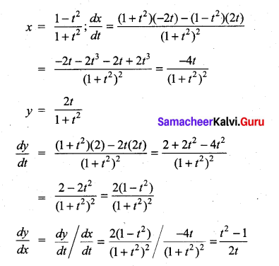 Samacheer Kalvi 11th Maths Solutions Chapter 10 Differentiability and Methods of Differentiation Ex 10.4 20
