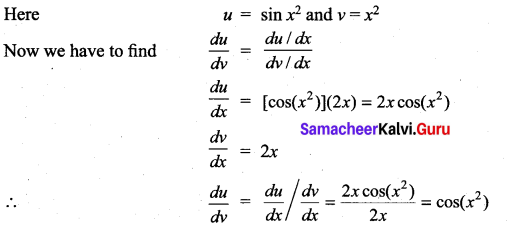 Samacheer Kalvi 11th Maths Solutions Chapter 10 Differentiability and Methods of Differentiation Ex 10.4 24