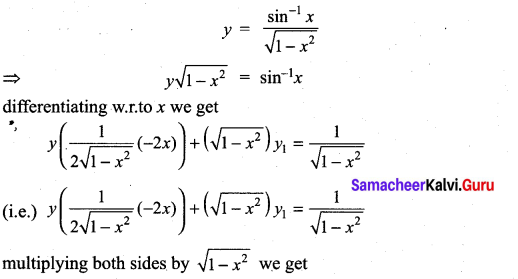 Samacheer Kalvi 11th Maths Solutions Chapter 10 Differentiability and Methods of Differentiation Ex 10.4 34