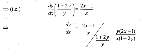 Samacheer Kalvi 11th Maths Solutions Chapter 10 Differentiability and Methods of Differentiation Ex 10.4 5