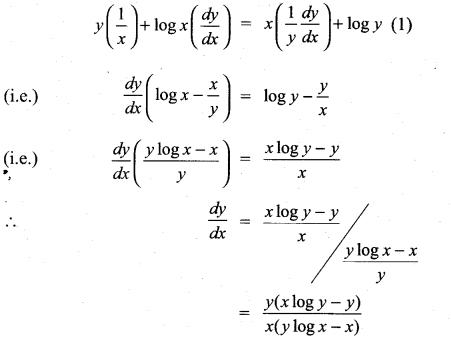 Samacheer Kalvi 11th Maths Solutions Chapter 10 Differentiability and Methods of Differentiation Ex 10.4 6