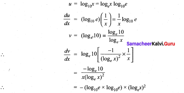 Samacheer Kalvi 11th Maths Solutions Chapter 10 Differentiability and Methods of Differentiation Ex 10.5 13