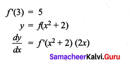 Samacheer Kalvi 11th Maths Solutions Chapter 10 Differentiability and Methods of Differentiation Ex 10.5 3