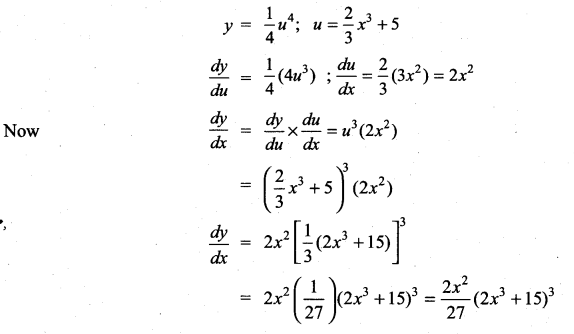 Samacheer Kalvi 11th Maths Solutions Chapter 10 Differentiability and Methods of Differentiation Ex 10.5 6
