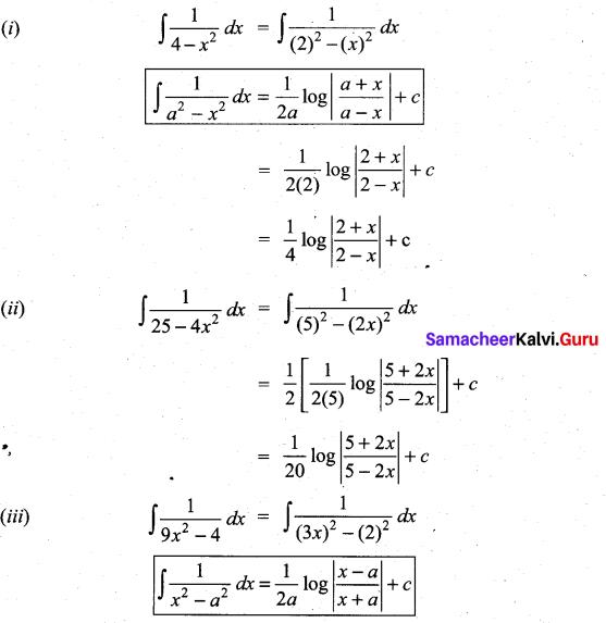 Samacheer Kalvi 11th Maths Solutions Chapter 11 Integral Calculus Ex 11.10 1