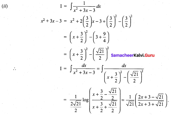 Samacheer Kalvi 11th Maths Solutions Chapter 11 Integral Calculus Ex 11.10 14