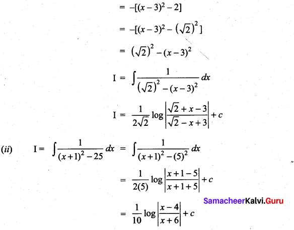 Samacheer Kalvi 11th Maths Solutions Chapter 11 Integral Calculus Ex 11.10 4