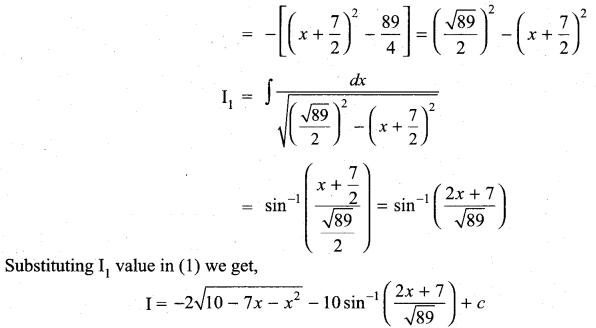 Samacheer Kalvi 11th Maths Solutions Chapter 11 Integral Calculus Ex 11.11 21