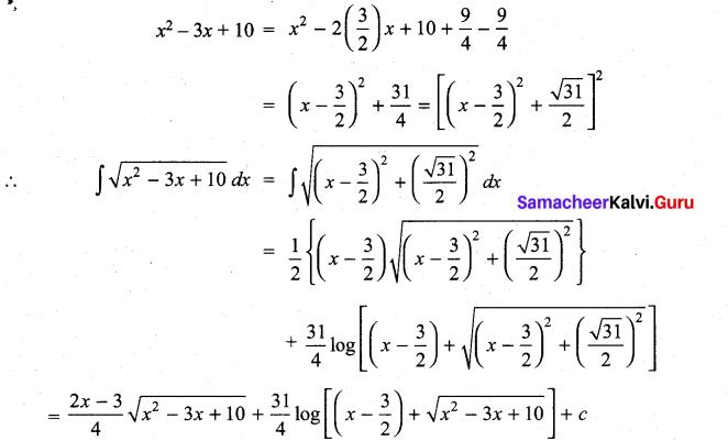 Samacheer Kalvi 11th Maths Solutions Chapter 11 Integral Calculus Ex 11.12 10