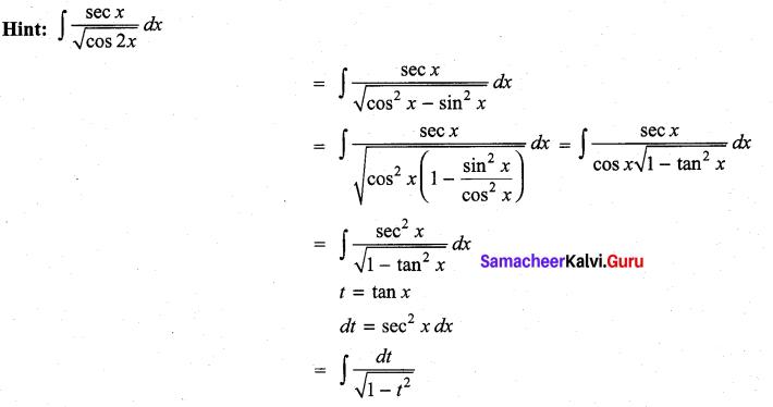 Samacheer Kalvi 11th Maths Solutions Chapter 11 Integral Calculus Ex 11.13 17