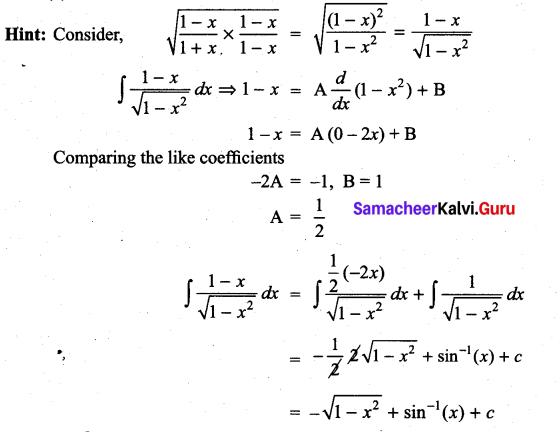 Samacheer Kalvi 11th Maths Solutions Chapter 11 Integral Calculus Ex 11.13 28