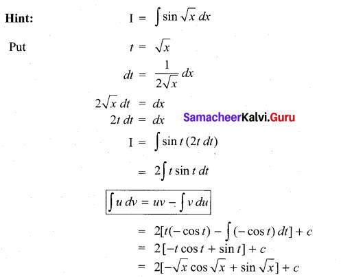 Samacheer Kalvi 11th Maths Solutions Chapter 11 Integral Calculus Ex 11.13 45