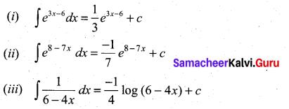 Samacheer Kalvi 11th Maths Solutions Chapter 11 Integral Calculus Ex 11.2 3