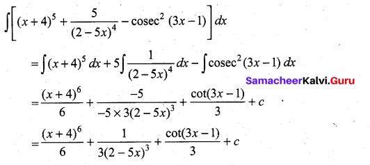 Samacheer Kalvi 11th Maths Solutions Chapter 11 Integral Calculus Ex 11.3 1
