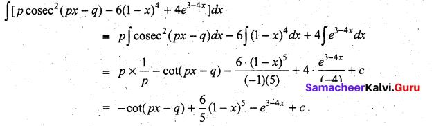 Samacheer Kalvi 11th Maths Solutions Chapter 11 Integral Calculus Ex 11.3 11
