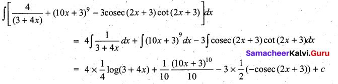 Samacheer Kalvi 11th Maths Solutions Chapter 11 Integral Calculus Ex 11.3 12