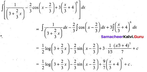 Samacheer Kalvi 11th Maths Solutions Chapter 11 Integral Calculus Ex 11.3 15