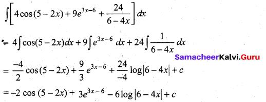 Samacheer Kalvi 11th Maths Solutions Chapter 11 Integral Calculus Ex 11.3 2