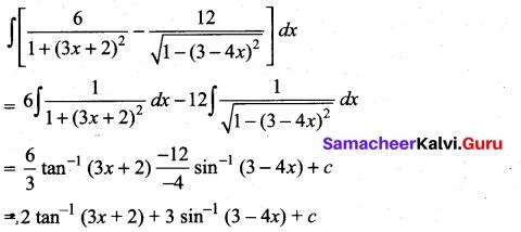 Samacheer Kalvi 11th Maths Solutions Chapter 11 Integral Calculus Ex 11.3 6