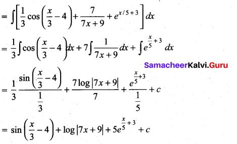 Samacheer Kalvi 11th Maths Solutions Chapter 11 Integral Calculus Ex 11.3 8