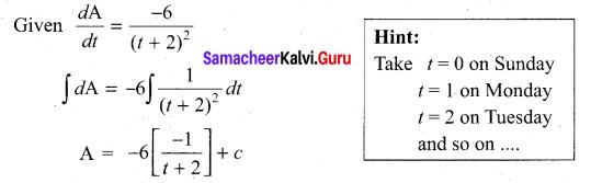 Samacheer Kalvi 11th Maths Solutions Chapter 11 Integral Calculus Ex 11.4 3