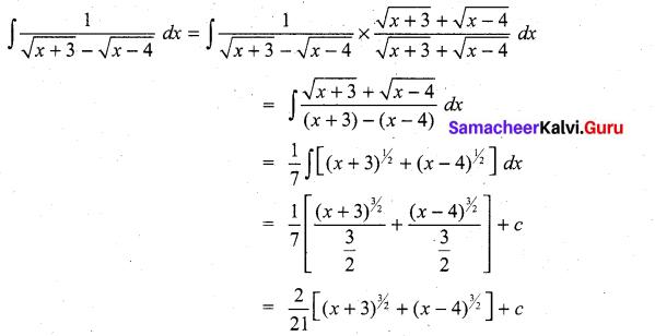 Samacheer Kalvi 11th Maths Solutions Chapter 11 Integral Calculus Ex 11.5 17