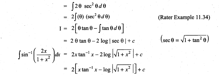 Samacheer Kalvi 11th Maths Solutions Chapter 11 Integral Calculus Ex 11.7 10