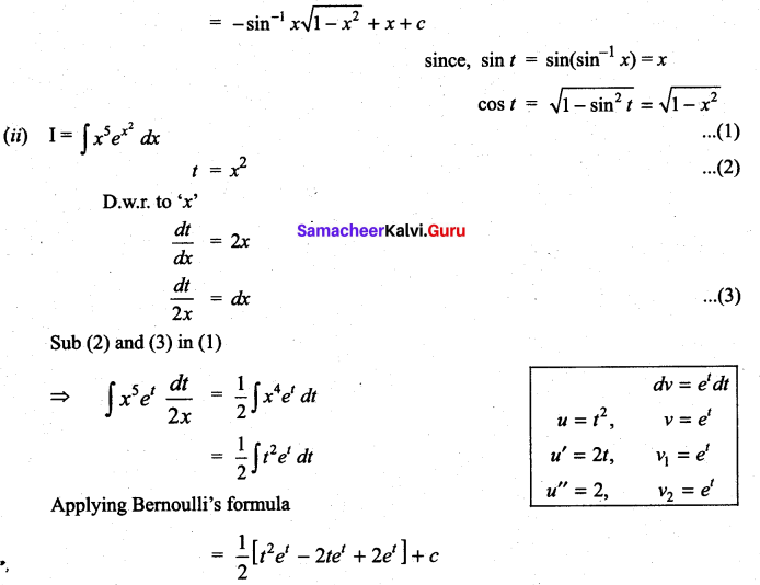 Samacheer Kalvi 11th Maths Solutions Chapter 11 Integral Calculus Ex 11.7 7