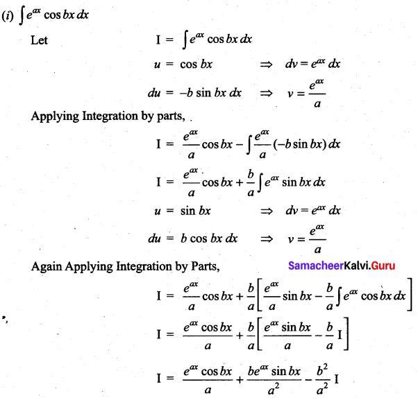 Samacheer Kalvi 11th Maths Solutions Chapter 11 Integral Calculus Ex 11.8 1