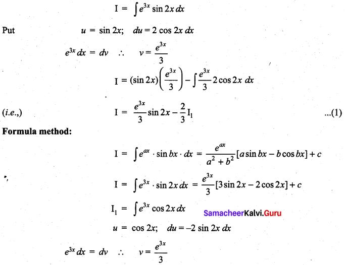 Samacheer Kalvi 11th Maths Solutions Chapter 11 Integral Calculus Ex 11.8 10