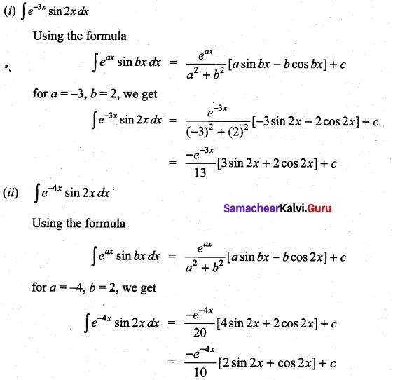 Samacheer Kalvi 11th Maths Solutions Chapter 11 Integral Calculus Ex 11.8 4