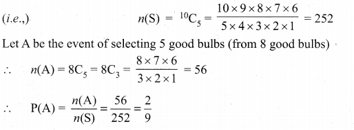 Samacheer Kalvi 11th Maths Solutions Chapter 12 Introduction to Probability Theory Ex 12.1 7
