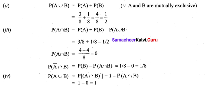 Samacheer Kalvi 11th Maths Solutions Chapter 12 Introduction to Probability Theory Ex 12.2 2