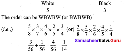 Samacheer Kalvi 11th Maths Solutions Chapter 12 Introduction to Probability Theory Ex 12.5 14