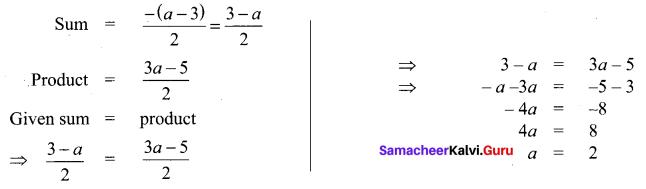Samacheer Kalvi 11th Maths Solutions Chapter 2 Basic Algebra Ex 2.13 14