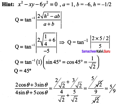 Samacheer Kalvi 11th Maths Solutions Chapter 6 Two Dimensional Analytical Geometry Ex 6.5 381